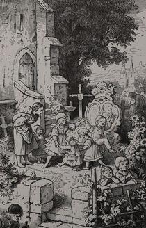 1104s - Auf dem Dorfkirchhof - village churchyard by stiche. biz