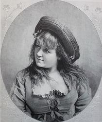 8699s - Portät eines jungen Mädchen - young girl von stiche. biz