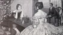 8716s - eine Partie Schach - a game of chess by stiche. biz