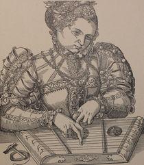9314s - die Zither-Spielerin - the zither player  by stiche. biz