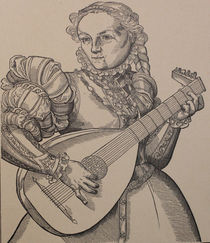 9322s - die Lauten-Spielerin - the lute player by stiche. biz