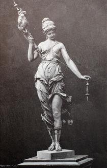 9365s - die Spindel-Statue - the spindle Statue by stiche. biz