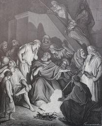 9471s - die Verleugnung des Petrus - Peter's denial von stiche. biz