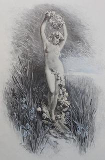 9497s - die Blumen-Statue - the flowers Statue by stiche. biz