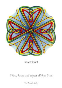 True Heart Mandala w/msg by themandalalady