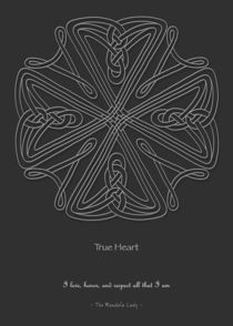 True Heart Mandala - white design w/msg by themandalalady