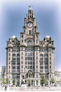The Liver Building - Hand tinted effect by Steve H Clark Photography