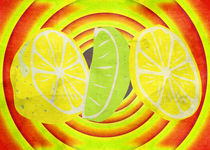 Pop Art Lemon Lime with CANVAS TEXTURE by Denis Marsili