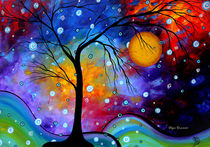"Unique Colorful Whimsical Painting by Megan Duncanson ""Winter Sparkle""© von Megan Duncanson"