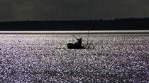 Fischer auf dem Haff von Angela Dieckmann