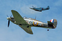 Hawker Hurricane and Supermarine Spitfire von Steve H Clark Photography