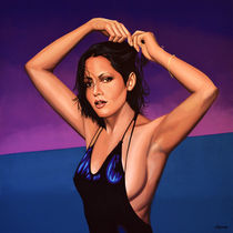 Barbara Carrera painting by Paul Meijering