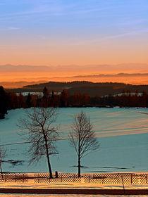 'Sonnenuntergang an Winterlandschaft   Landschaftsfotografie' by Patrick Jobst