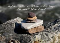 Legt das Leben Dir Steine in den Weg.... von elke krause