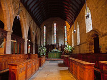 Interior of St Andrew's Church, Corbridge  von Louise Heusinkveld