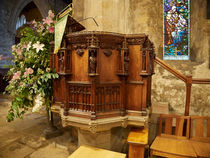 St Andrew's Church Pulpit von Louise Heusinkveld