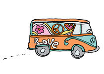 Hippie love bus  von by Jill