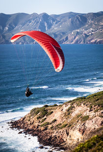 Paraglider over the coast by Matteo Carta