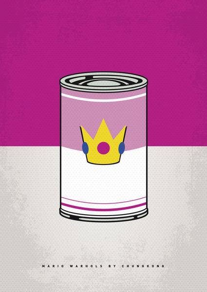 My-peach-warhols-minimal-can-poster