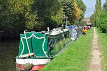 Boats Near Horninglow Basin by Rod Johnson