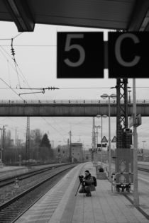 Fotograf bei der Arbeit, schwarz weiss Foto by Kathleen Follert