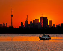Sunset Sail Ashbridges Bay Toronto Canada by Brian Carson