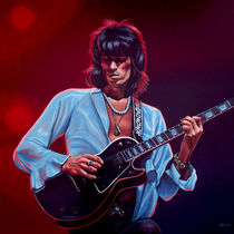 Keith Richards painting von Paul Meijering