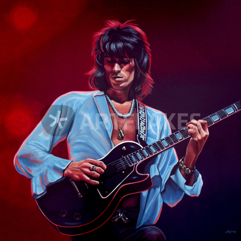 Art print POSTER Keith Richards Posing with Electric Guitar