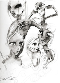 there are many faces of darkness by Cornelia Papendick