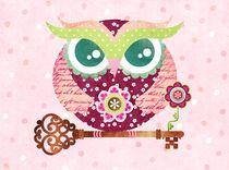 Spring Blossom Owl by Sandra Vargas