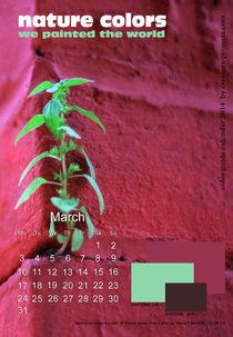 nature colors calendar March 2014 von ggoulias