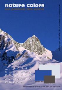nature colors calendar January 2014  by ggoulias