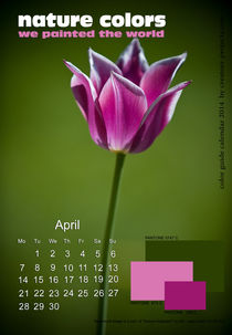 nature colors calendar April 2014 by ggoulias