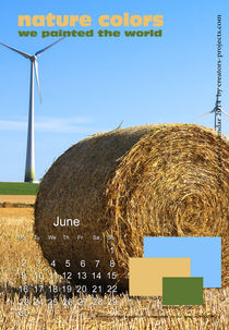 nature colors calendar June 2014 by ggoulias
