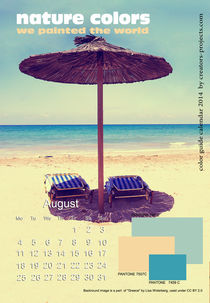 nature colors calendar August 2014 by ggoulias
