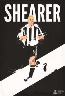 90's Legends of Football #1: Alan Shearer by Thibault Rouquet