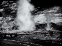 Old Faithful in Black and White von Ken Dvorak