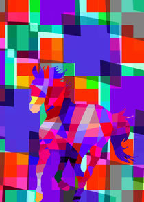 Horse Cool Colorful Vector Shapes by Denis Marsili