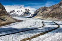 Gletscherstraße Aletschgletscher Schweiz von Matthias Hauser