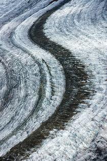 Aletschgletscher Gletscherstraße Moräne von Matthias Hauser