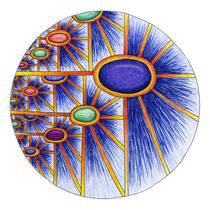 Cosmic Sunflower Mandala by themandalalady