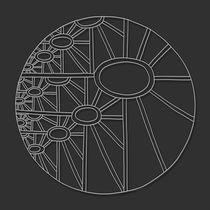 Cosmic Sunflower Mandala - white design by themandalalady