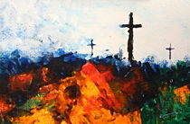 Three Wooden Crosses von Kume Bryant