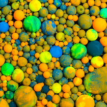 Paint balls slick - oil paint marbles nr.17 by rclassenfotostock