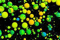Green universe balls - oilpaint marbles nr.10 by rclassenfotostock