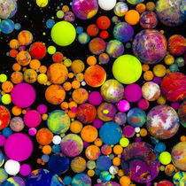 colorful spheres - oil paint marbles nr.01 by rclassenfotostock