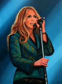 Anouk in concert painting by Paul Meijering