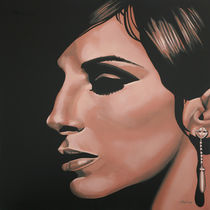 Barbra Streisand painting by Paul Meijering