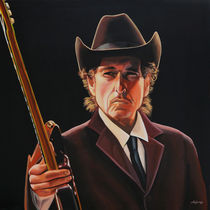 Bob Dylan 2 painting by Paul Meijering