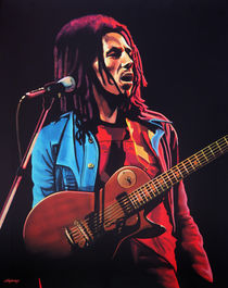 Bob Marley 2 painting by Paul Meijering